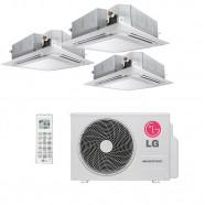 Ar Condicionado Tri Split Cassete Inverter 2x9000 BTUs + 1x12000 BTUs LG 4 Vias Q/F 220V A3UW21GFA2