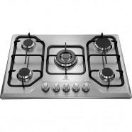 Imagem - Cooktop Electrolux Tripla Chama 5 Bocas Inox Bivolt GT75X cód: 040023652012160011