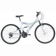 Imagem - Bicicleta Full Suspension Kanguru 18 Velocidades Aro 26 Branco Polimet 7002 cód: 541131005027031011