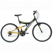 Bicicleta Aro 26 V-Brake 18 Marchas Kanguru Preto Polimet