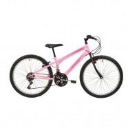 Imagem - Bicicleta MTB Aro 24 V-Brake 18 M Feminina Rosa Polimet cód: 541131104059031011