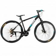 Imagem - Bicicleta Aro 29 Freio a Disco 21 Vel Câmbio Shimano Preto/AzulQGK B29 QGKMTB001-02 cód: 54153120611A024021