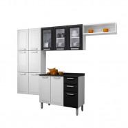 Imagem - Cozinha Itatiaia Kit Luce Branco/Preto Aço 4 Pecas Vidro Com Tampo C/IG3G2-105 cód: AK0840103030103011