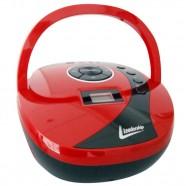 Imagem - Rádio MP3 Boombox USB SD AUX Vermelho Leadership Bivolt/Pilhas 1470 cód: CS1104711020205221