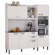 Imagem - Cozinha Compacta Itatiaia Damasco Branco Madeira com Tampo I4G2-180 cód: CZ0840206010201221