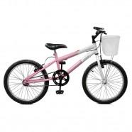 Imagem - Bicicleta Aro 20 Feminina Serena Rosa e Branco Master Bike cód: MKP000024000005