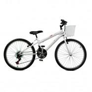 Imagem - Bicicleta Aro 24 Serena Plus 21 Marchas Branco Master Bike cód: MKP000024000018