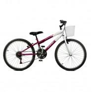 Imagem - Bicicleta Aro 24 Feminina Serena 21M Violeta BR Master Bike cód: MKP000024000020