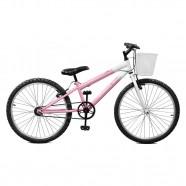 Imagem - Bicicleta Aro 24 Feminina Serena Rosa sem Marcha Master Bike cód: MKP000024000021