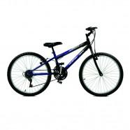 Imagem - Bicicleta Aro 24 Masculina Ciclone Plus 21 Marchas Azul com Preto Master Bike cód: MKP000024000026