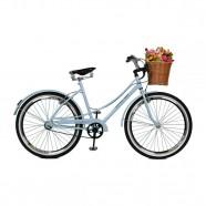 Imagem - Bicicleta Aro 26 Feminina Bella Retro Branco Azulado - Master Bike cód: MKP000024000119