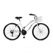 Bicicleta Aro 26 Feminina Ipanema Plus Branco Master Bike