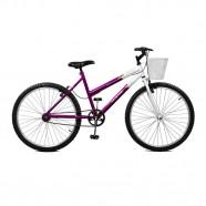 Imagem - Bicicleta Feminina Serena Aro 26 Violeta eBrancoMaster Bike cód: MKP000024000133