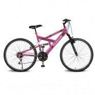 Imagem - Bicicleta Aro26 Caballu 7.2 Alumínio Natural 21v Pink Kyklos cód: MKP000024000181