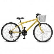 Imagem - Bicicleta Aro 26 Magie 21v Amarelo Kyklos cód: MKP000024000198
