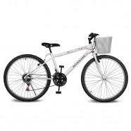 Imagem - Bicicleta Aro 26 Magie 21v Branca Kyklos cód: MKP000024000199