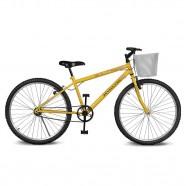 Imagem - Bicicleta Aro 26 Magie sem Marchas Amarelo Kyklos cód: MKP000024000202