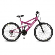 Imagem - Bicicleta Aro 26 Caballu 7.5 21V A-36 Pink Kyklos cód: MKP000024000268