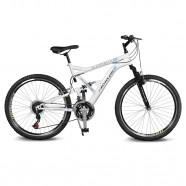 Imagem - Bicicleta Aro 26 Caballu 7.8  21v Branco/Azul Kyklos cód: MKP000024000290