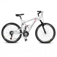 Imagem - Bicicleta Aro 26 Caballu 7.8 21v Branco/Vermelho Kyklos cód: MKP000024000293