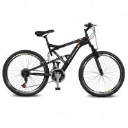 Imagem - Bicicleta Aro 26 Caballu 7.8 21v Preto/Laranja Kyklos cód: MKP000024000295