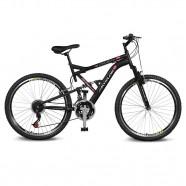 Imagem - Bicicleta Aro 26 Caballu 7.8 21v Preto/Vermelho Kyklos cód: MKP000024000297