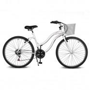 Imagem - Bicicleta Aro 26 Leme 6.5 Freio Manual 21v Branco Kyklos cód: MKP000024000335