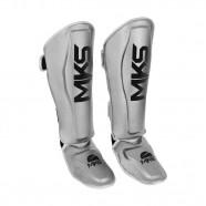 Imagem - Caneleira de Muay Thai e Kickboxing Mks Energy V2 Silver M cód: MKP000026002315