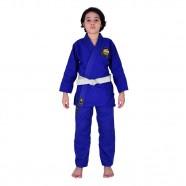 Imagem - Kimono Jiu Jitsu Infantil Trançado Mks Combat Azul M1 cód: MKP000026002371