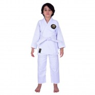 Imagem - Kimono Jiu Jitsu Infantil Trançado Mks Combat Branco M1 cód: MKP000026002378
