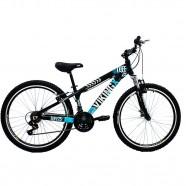 Bicicleta Freeride Aro 26 Freio V-Brake Preto Azul Viking X