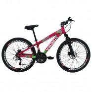 Imagem - Bicicleta X TUFF25 Aro 26 Freio a Disco Shimano Rosa Viking cód: MKP000163000020