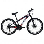 Bicicleta VikingX TUFF25 Aro 26 Freeride 21V Roxo/Laranja