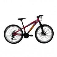 Imagem - Bicicleta VikingX Freeride Aro 26 21 Vel Rosa/Roxo TUFF25 cód: MKP000163000072
