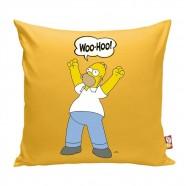 Almofada Simpsons Homer 40x40x20cm Amarela Trevisan Concept