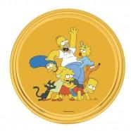 Imagem - Bandeja Simpsons Redonda 30x30x3cm Amarela Trevisan Concept cód: MKP000196000015