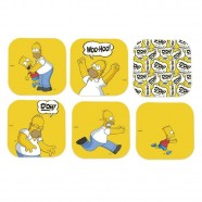 Conjunto Porta Copos Simpsons Homer C/6 Amarelo Trevisan