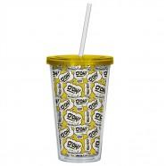 Copo Simpsons Homer 500ml Amarelo e Branco Trevisan Concept