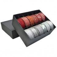 Imagem - Conjunto Pulseiras Silver & Red com 12 Trevisan Concept cód: MKP000196000264