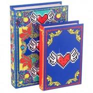 Imagem - Conjunto Livro Caixa Amor Pixel Heart C/2 Trevisan Concept cód: MKP000196000419
