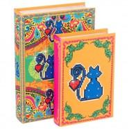 Imagem - Conjunto Livro Caixa Amor Pixel de Gato C/2 Trevisan Concept cód: MKP000196000420