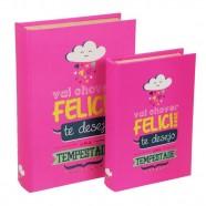 Imagem - Conjunto Livro Caixa Felicidade C/2 Trevisan Concept cód: MKP000196000421