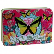 Imagem - Lata Butterfly Pink  Exclusiva Trevisan Concept cód: MKP000196000441