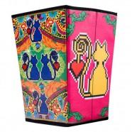 Imagem - Lixeira Amor de Pixel Gato Exclusiva Trevisan Concept cód: MKP000196000447