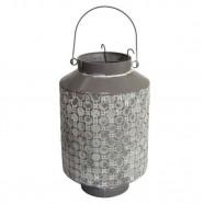 Imagem - Lanterna Metal Cinza 33x21x21 cm Trevisan Concept cód: MKP000196000549