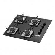 Cooktop a Gás 4 Queimadores Soft-VD PT Built Biv Blt 4q Prs