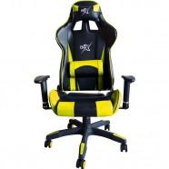 Cadeira Gamer com Encosto Reclinável Amarela - BRX
