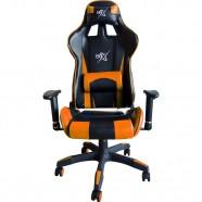 Cadeira Gamer Laranja com Encosto Reclinável - BRX