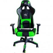 Cadeira Gamer com Encosto Reclinável Verde - BRX