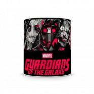 Caneca Artgeek Guardiões Da Galáxia Cartoon HQ Preta